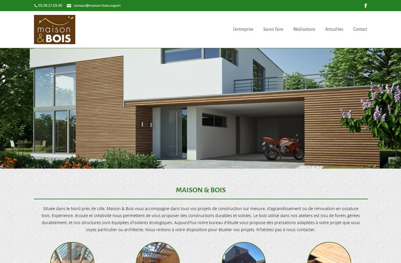 Refonte du site Maison & Bois (Orchies 59)