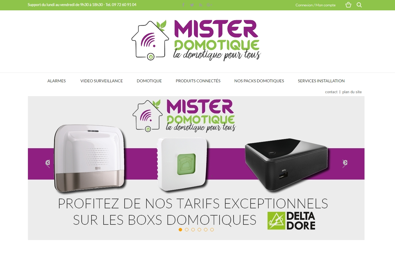 Creation du site Misterdomotique.fr