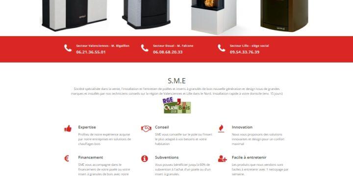 Création du site SME Poele granules