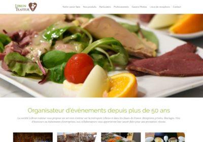 Refonte du site web de la société Lebrun Traiteur