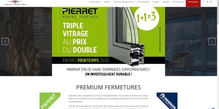 Refonte du site Internet de la société Premium Fermetures