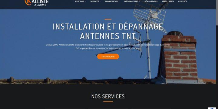 Refonte du site web de la société Antenne Kalliste