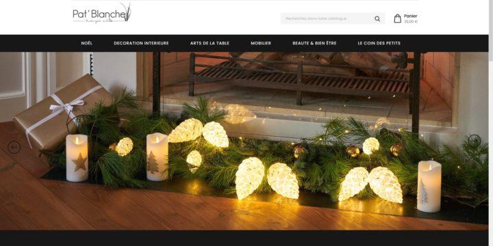 Création du site web www.patblanche-boutique.com