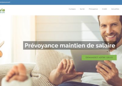Refonte du site Internet du cabinet d'assurances Assurevie à Valenciennes