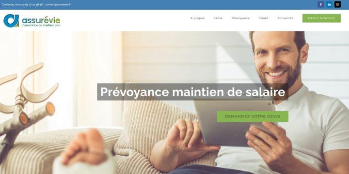 Refonte du site Internet du cabinet d'assurances Assurevie à Valenciennes